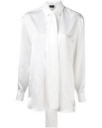 Chemise de ville en soie blanche Lanvin