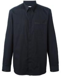 Chemise de ville en soie noire Givenchy