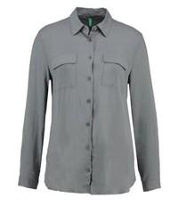 Chemise de ville grise Benetton