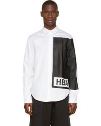 Chemise de ville imprimée blanche et noire Hood by Air