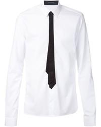 Chemise de ville imprimée blanche et noire Kris Van Assche