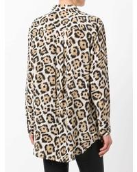 Chemise de ville imprimée léopard marron clair Equipment