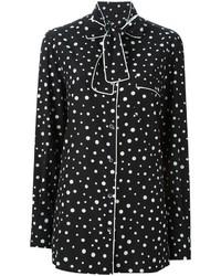Chemise de ville imprimée noire et blanche Dolce & Gabbana