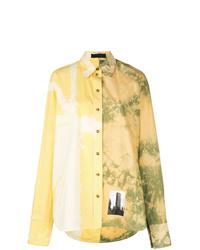 Chemise de ville imprimée tie-dye jaune Proenza Schouler