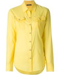 Chemise de ville jaune Balmain