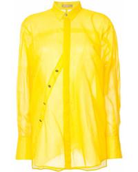 Chemise de ville jaune