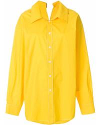 Chemise de ville jaune Marni