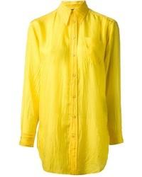Chemise de ville jaune Ralph Lauren