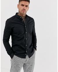 Chemise de ville noire Burton Menswear