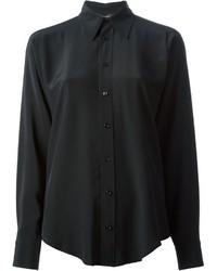 Chemise de ville noire Ralph Lauren