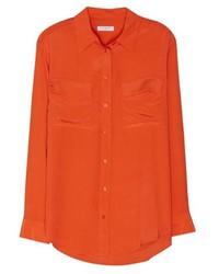 Chemise de ville orange