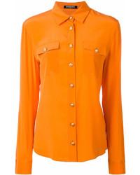 Chemise de ville orange Balmain