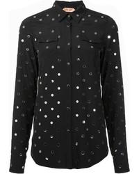 Chemise de ville ornée noire No.21