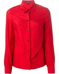 Chemise de ville rouge Ann Demeulemeester