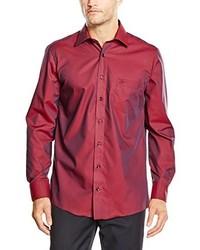 Chemise de ville rouge Casamoda