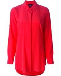 Chemise de ville rouge DKNY