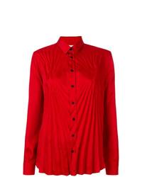 Chemise de ville rouge Maison Margiela