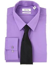 Chemise de ville violette