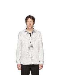 Chemise en jean blanche et noire Stella McCartney
