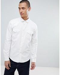 Chemise en jean blanche ASOS DESIGN