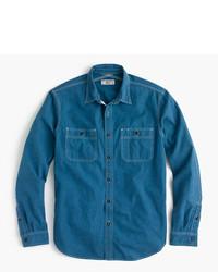 Chemise en jean bleu canard