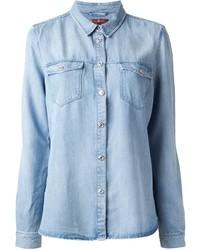 Chemise en jean bleu clair 7 For All Mankind