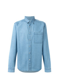 Chemise en jean bleu clair AMI Alexandre Mattiussi