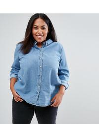 Chemise en jean bleu clair Asos Curve