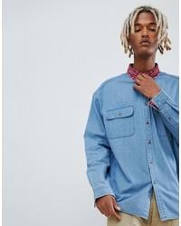 Chemise en jean bleu clair ASOS DESIGN