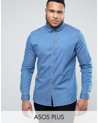 Chemise en jean bleu clair Asos