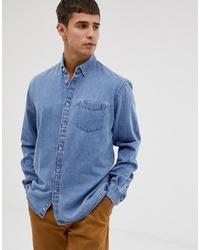 Chemise en jean bleu clair Celio