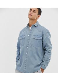 Chemise en jean bleu clair Collusion