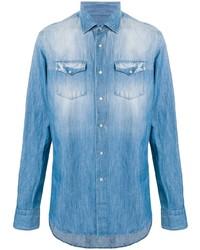 Chemise en jean bleu clair Dell'oglio