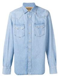 Chemise en jean bleu clair Diesel