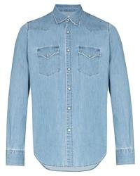 Chemise en jean bleu clair Eleventy