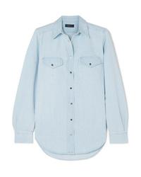 Chemise en jean bleu clair Goldsign