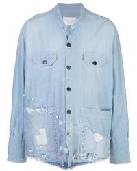 Chemise en jean bleu clair Greg Lauren