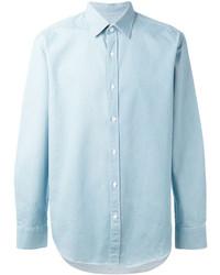 Chemise en jean bleu clair Hardy Amies