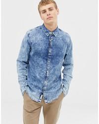 Chemise en jean bleu clair Hollister