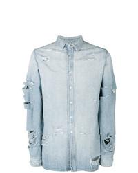 Chemise en jean bleu clair Ih Nom Uh Nit