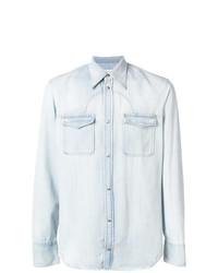 Chemise en jean bleu clair Maison Margiela