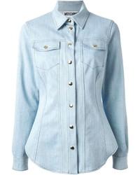 Chemise en jean bleu clair Moschino