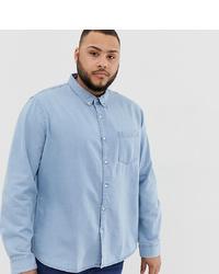 Chemise en jean bleu clair New Look