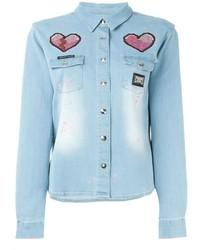 Chemise en jean bleu clair Philipp Plein