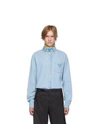 Chemise en jean bleu clair Prada