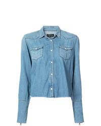 Chemise en jean bleu clair RtA