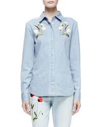 Chemise en jean bleu clair Stella McCartney