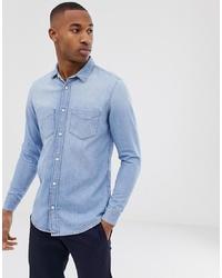 Chemise en jean bleu clair Tiger of Sweden Jeans