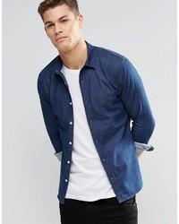 Chemise en jean bleu marine Asos