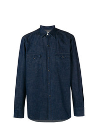 Chemise en jean bleu marine Bagutta